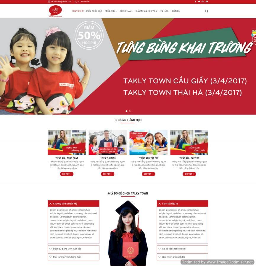 Xây dựng trang web Thái Bình