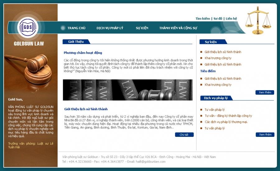 Dich Vu Thiet Ke Website Gioi Thieu Cong Ty Luat 1