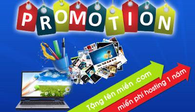 Khuyến mại Thiết kế trang website bán hàng