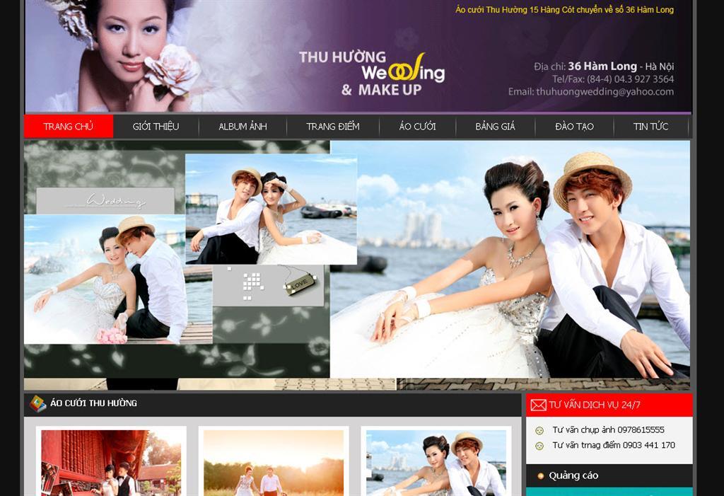Kết quả hình ảnh cho Thiết kế website thời trang - Studio áo cưới