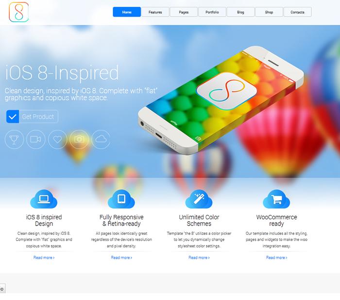 Mẫu website giao diện phẳng 08 của NhonMy
