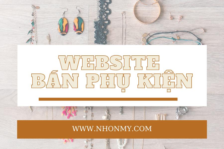 Thiết kế website bán hàng phụ kiện online
