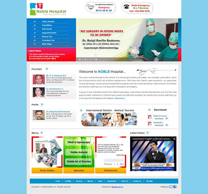 Thiết kế website bệnh viện - phòng khám