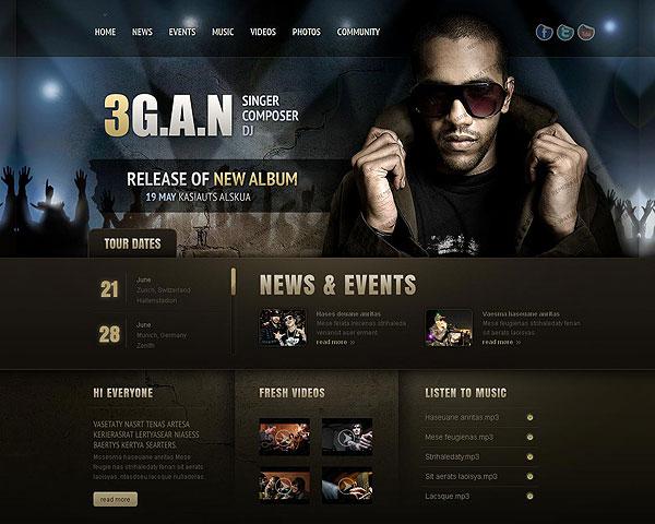 Kết quả hình ảnh cho website nghệ sĩ