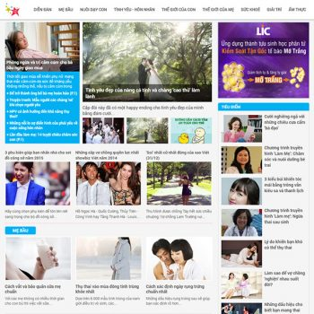 Thiết kế web tin tức - tạp chí online