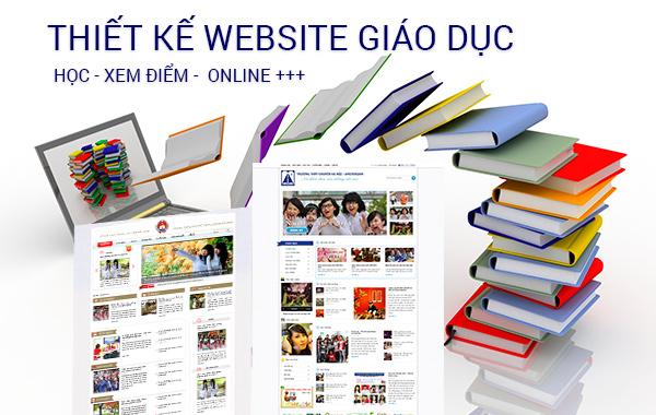 Thiết kế website giáo dục, thiết kế website đào tạo, thiết kế web trường học