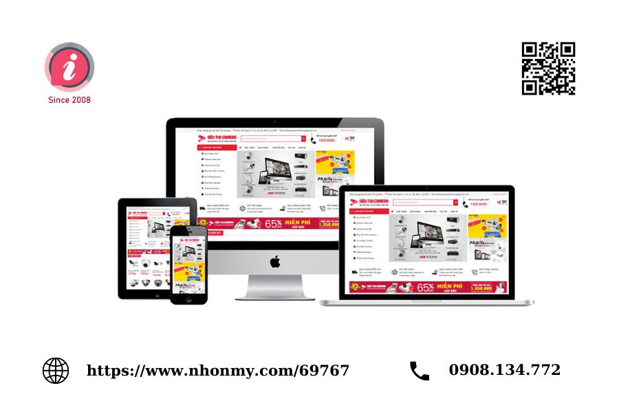 Thiết kế website siêu thị điện máy chuyên nghiệp