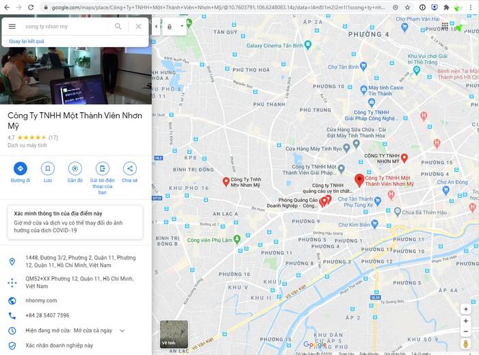 Quảng cáo địa điểm doanh nghiệp của bạn
