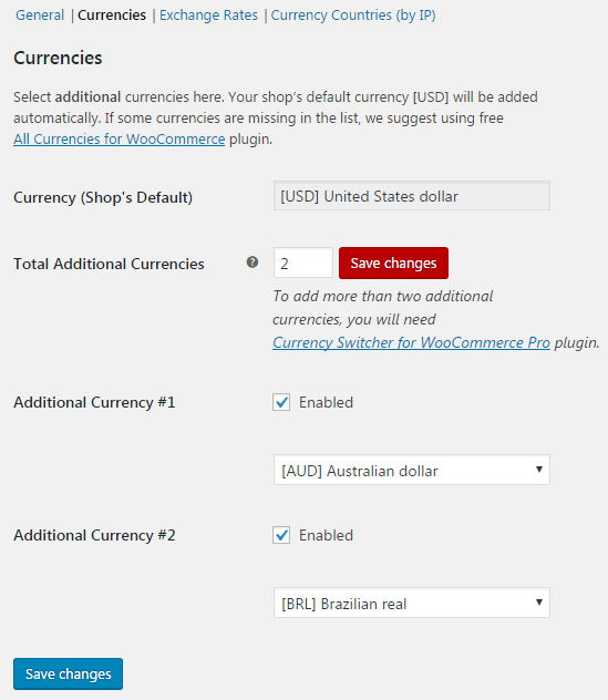 Currency Switcher for WooCommerce - Currencies.