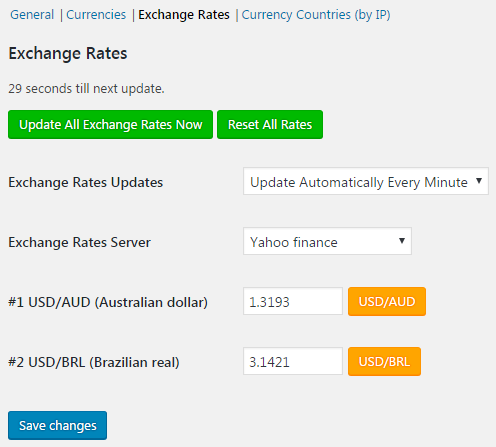 Currency Switcher for WooCommerce - Exchange Rates.