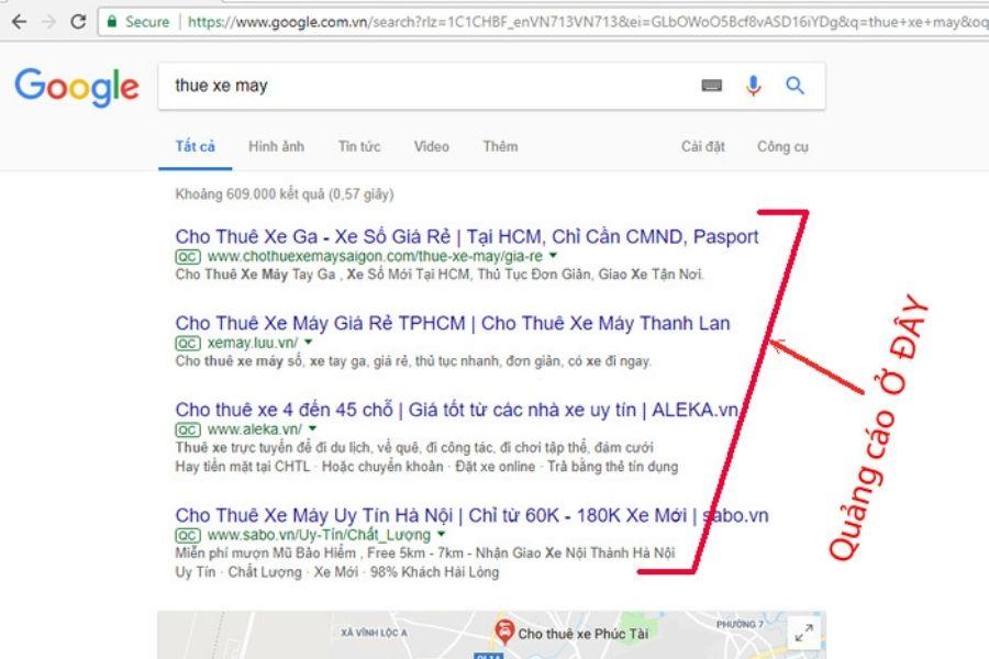 Top tìm kiếm trên google