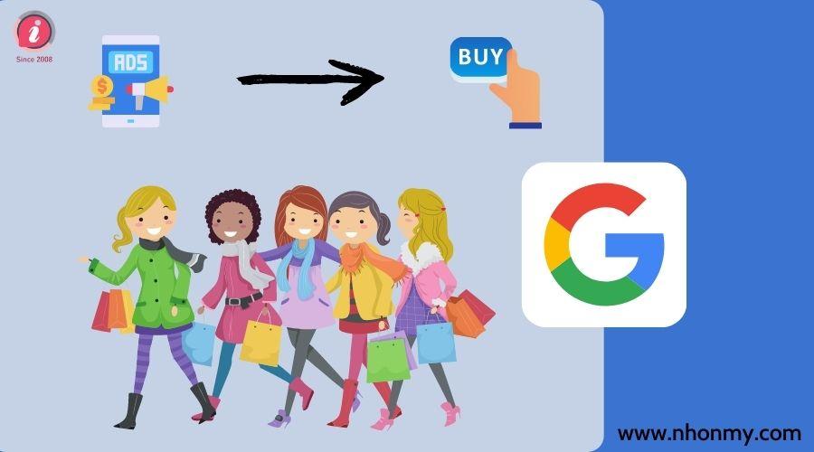 Quảng cáo 1 tháng google mua sắm cho 50 sản phẩm